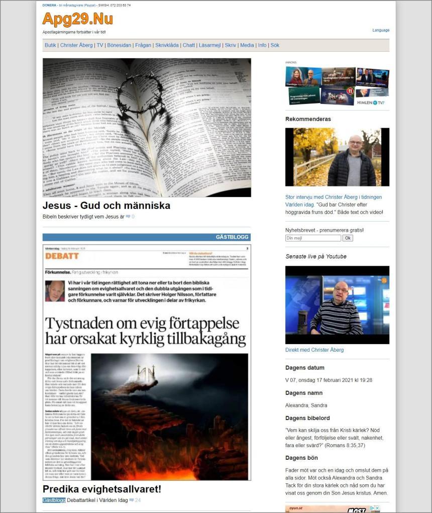 Bloggsajten Apg29 år 2021.