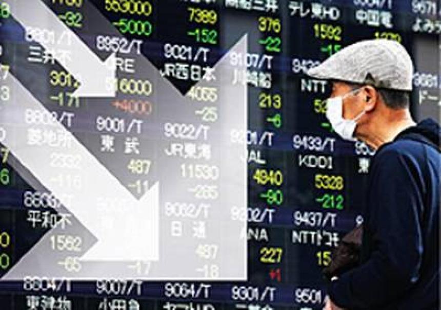 Börserna faller i Kina.