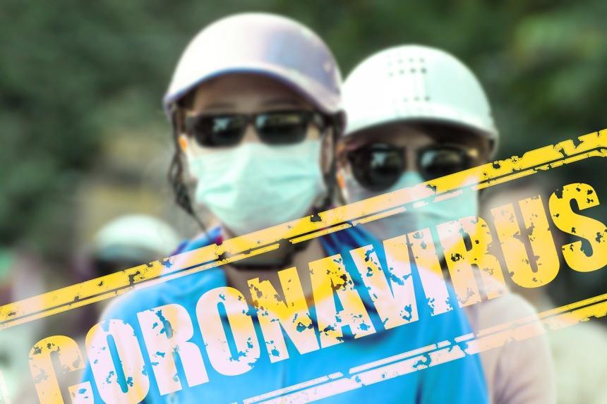 冠狀病毒 - 口罩。