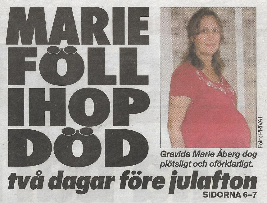 Aftonbladet om Marie och Joels död.
