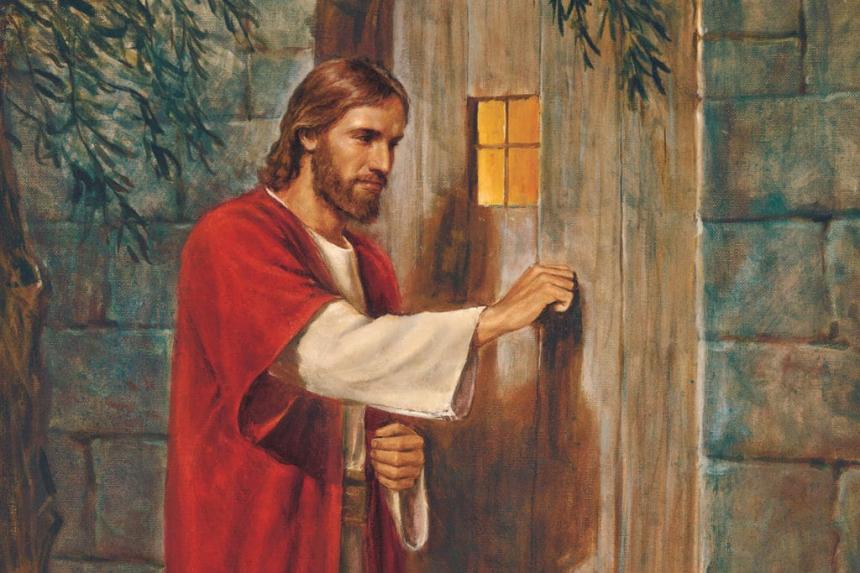 Jesus knackar på dörren