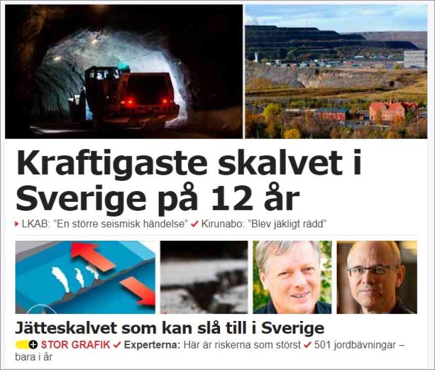 Jordskalvet i Kiruna ett tidstecken?