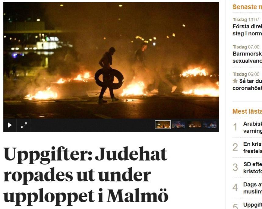 Upplopp mot demokratin i Malmö.
