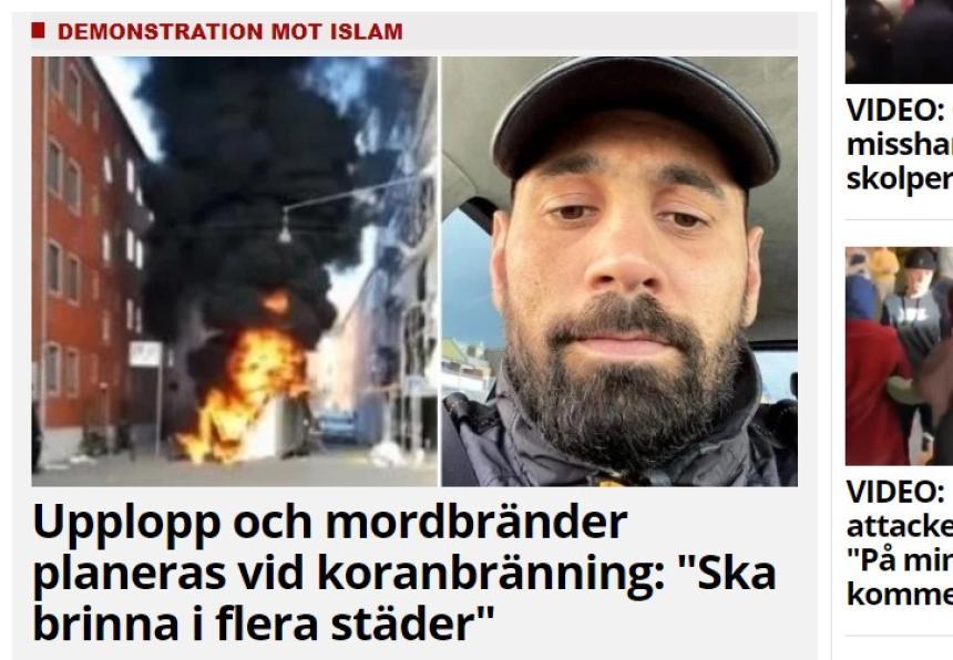 Koranen kommer att dränkas i grisblod och urin och sedan eldas upp på Fridhemstorget i Malmö.