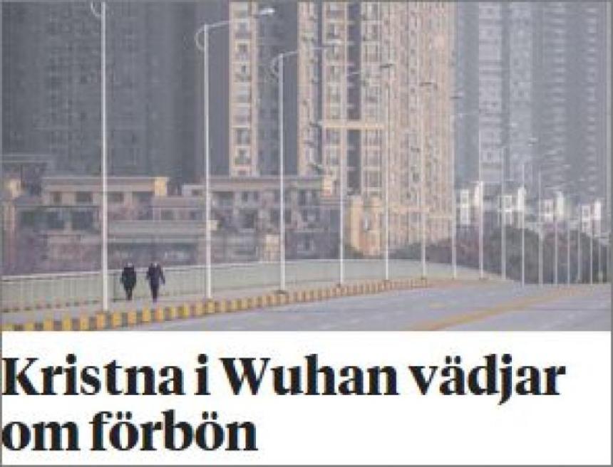 Kristna i Wuhan vädjar om förbön.