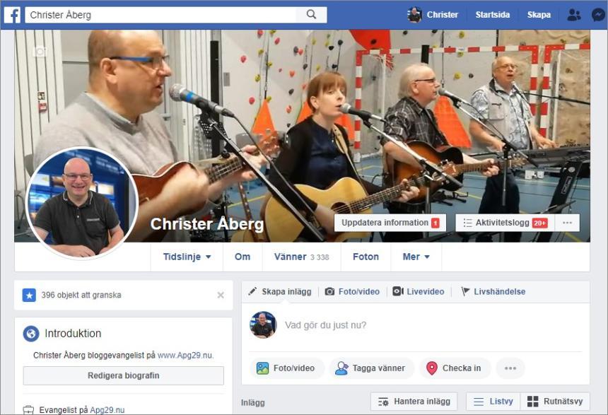 Christer Åbergs Facebook-konto
