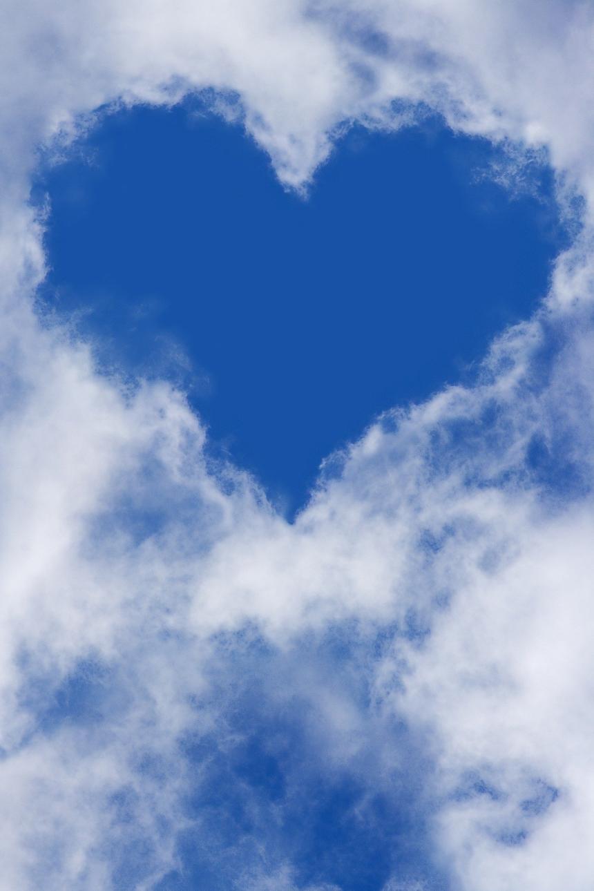 Hjärta av moln.