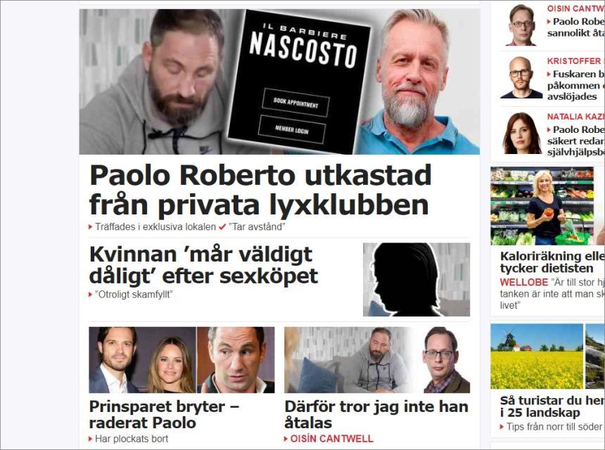 Paolo Robertos sexköp i Aftonbladet.
