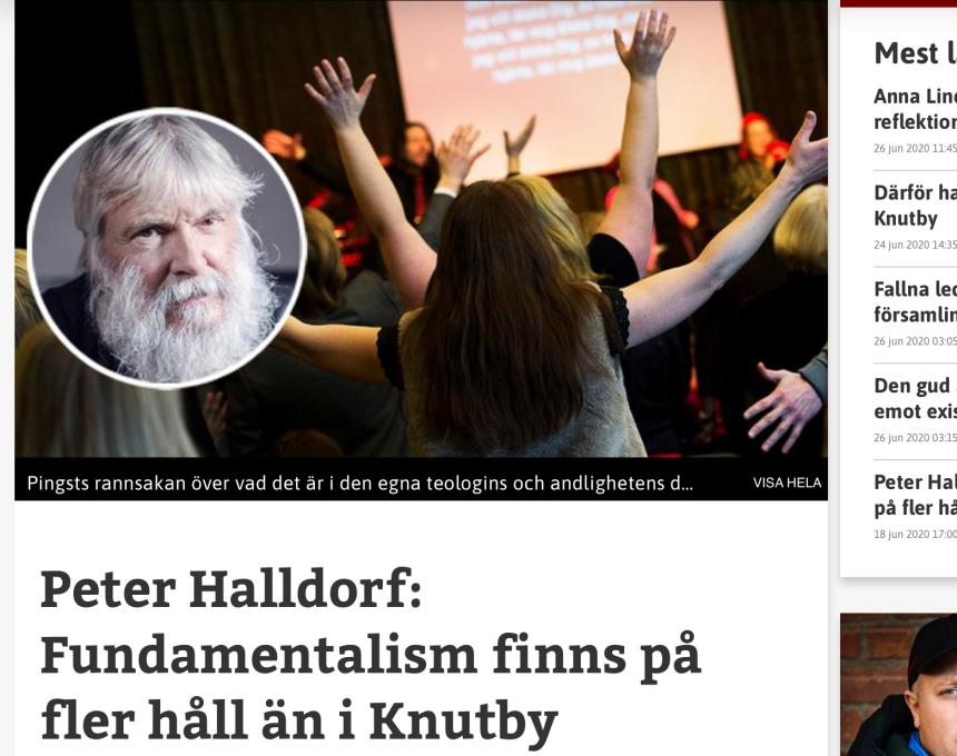 Peter Halldorf i Dagen.