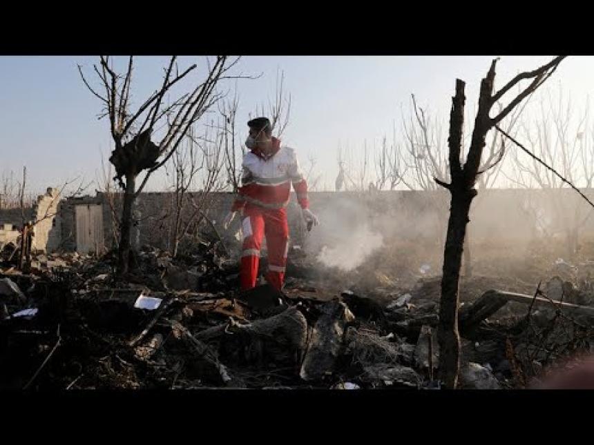 Video visar att flygplanet sköts ned.