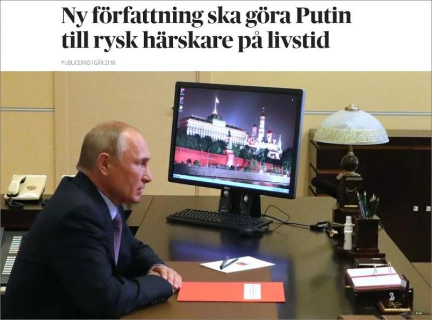 Putin - diktator i Ryssland.