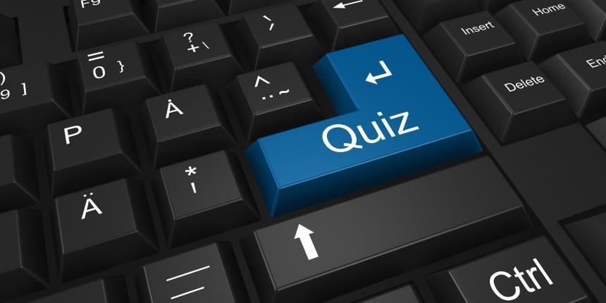 Quiz returknappen på tangentbord.