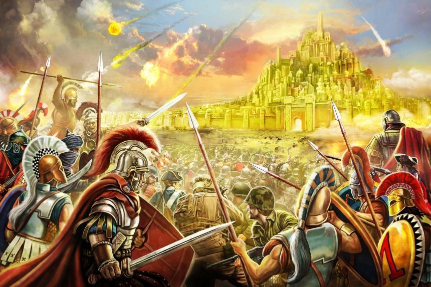 د زر کلن سلطنت وروستی او پریکړه کونکی جنګ.