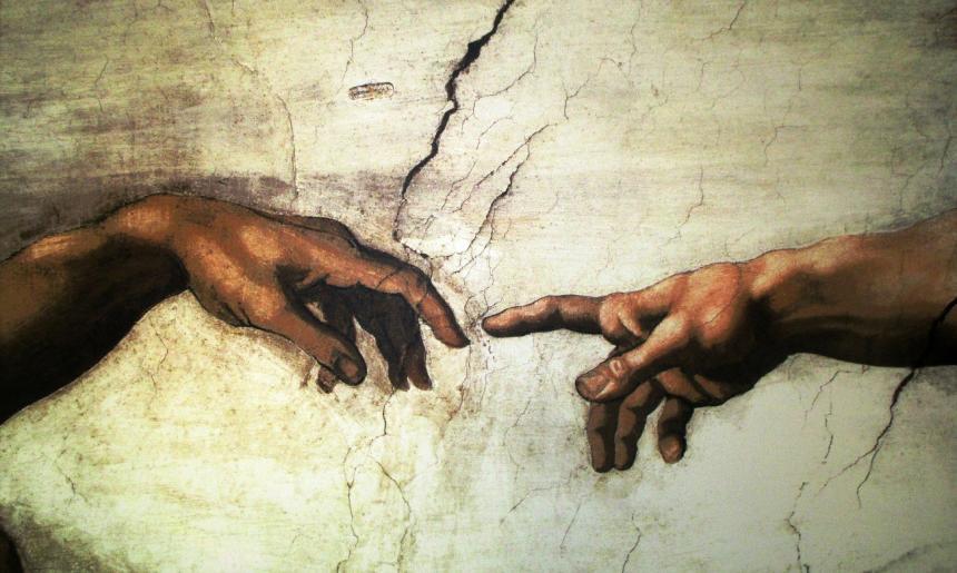 Gud skapar människan.