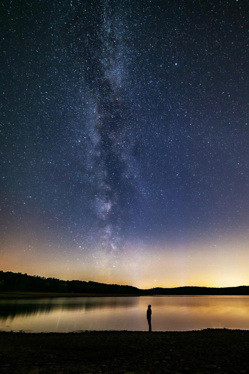 Stjärnhimlen.