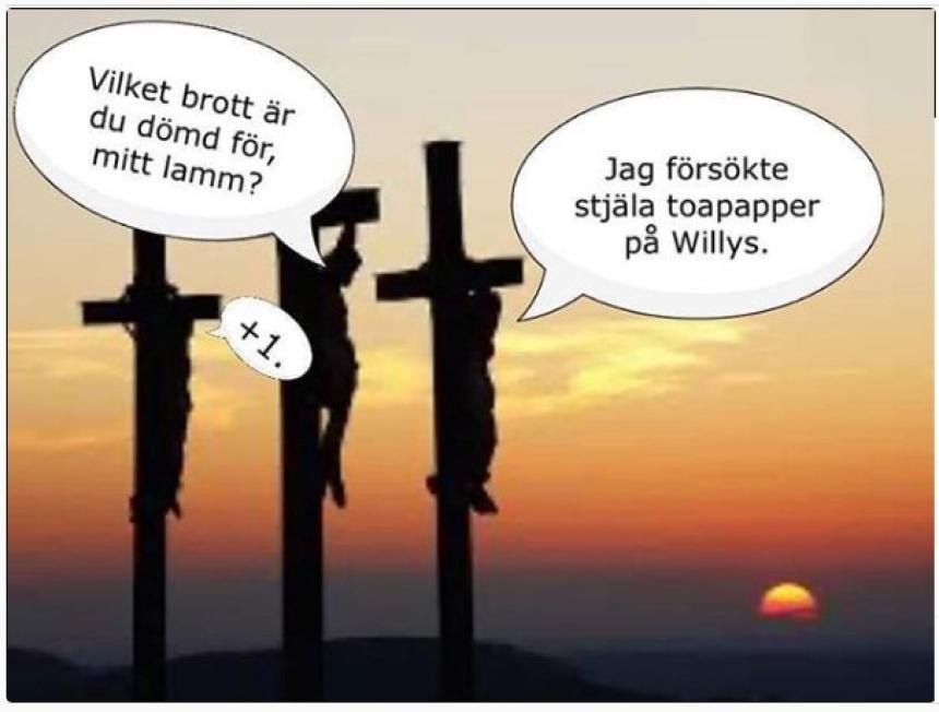 Ytterligare hädelse om korset.