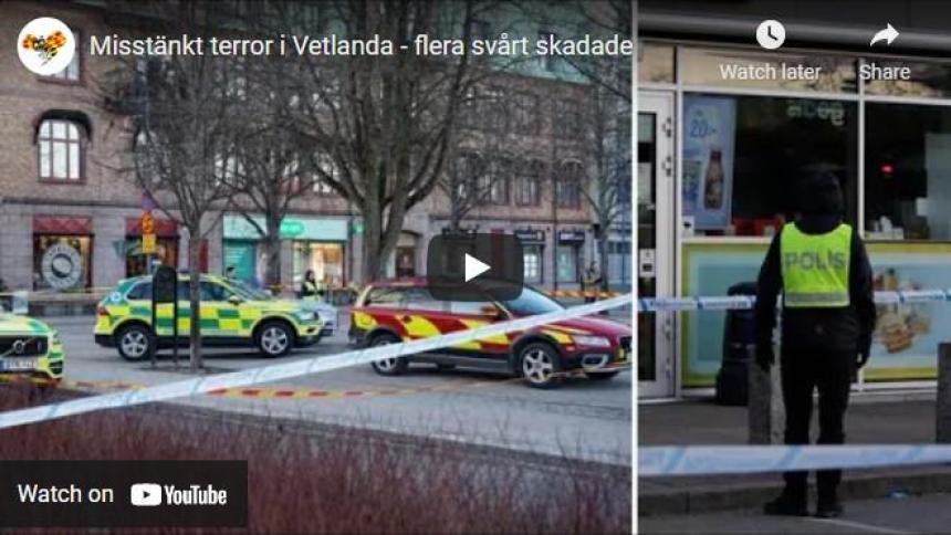 Harin ta'addanci a Vetlanda Sweden.