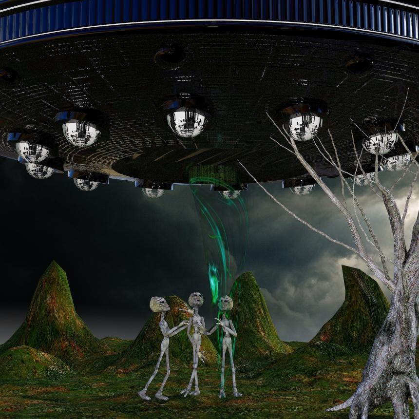 UFO och utomjordingar.