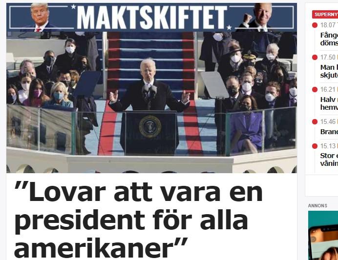 Joe Biden - ny president i USA.